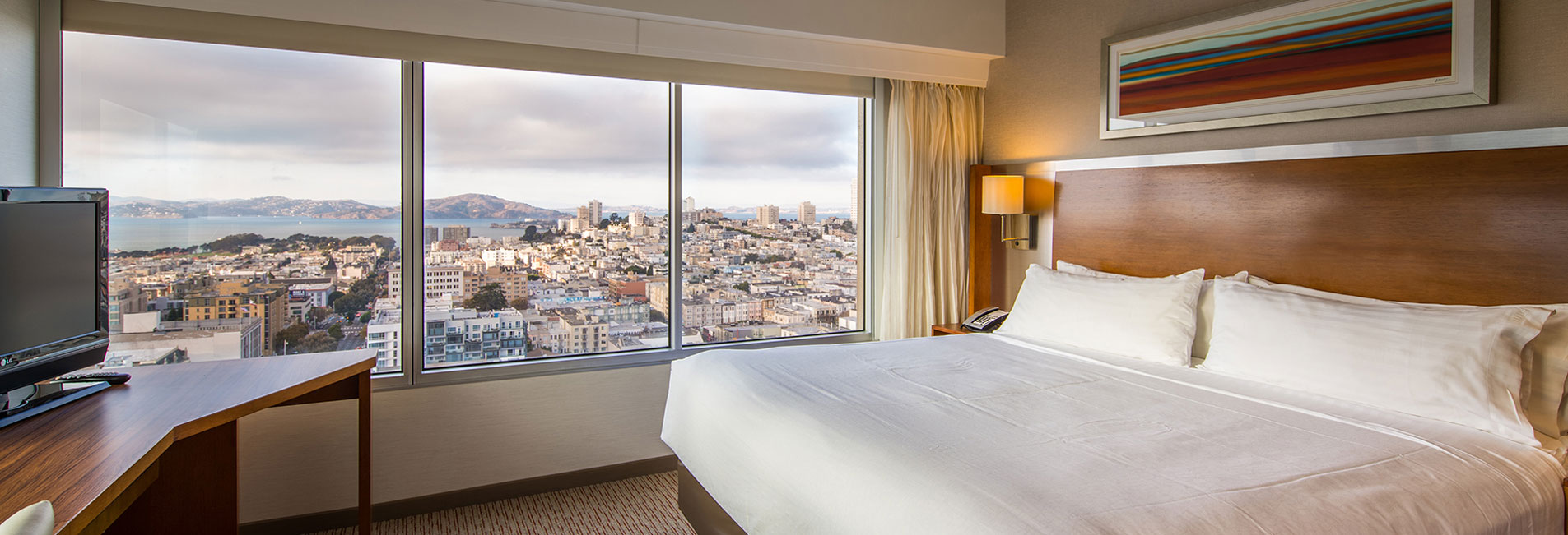 View of Nob Hill Neighborhood from our king guest rooms