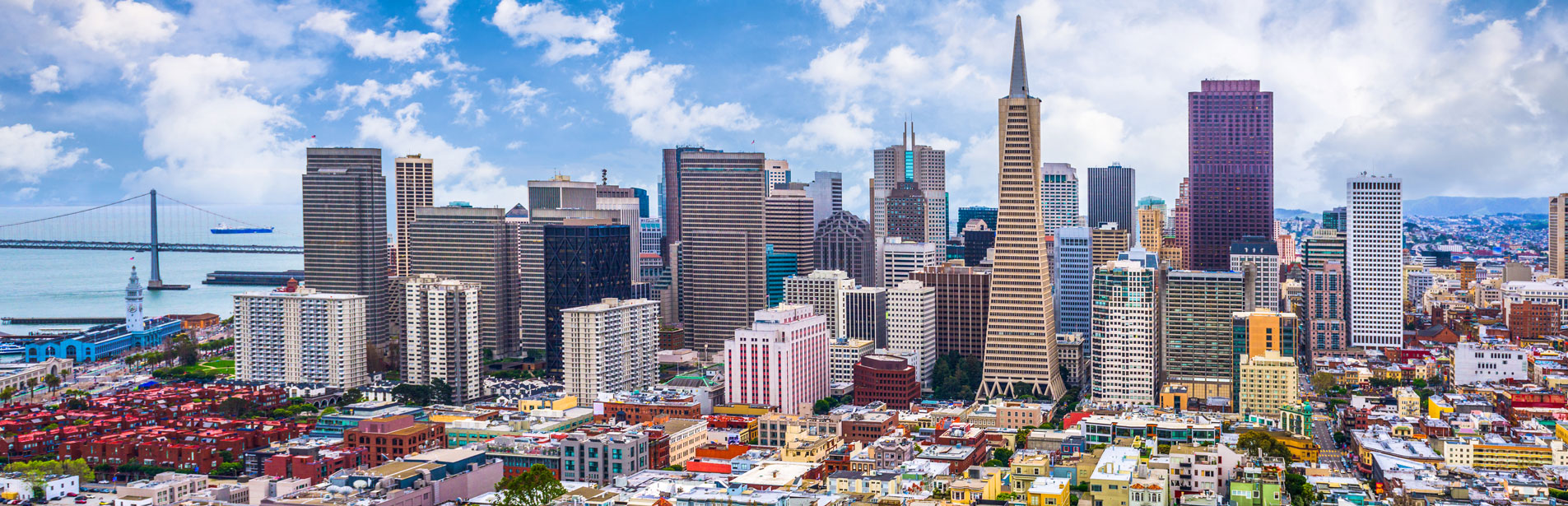 daytime image of the San Francisco skyline looking north to downtown